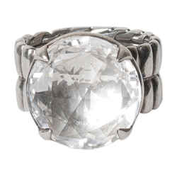 John Hardy Crystal Cocktail Ring