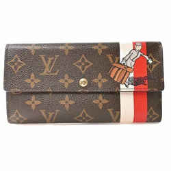 Auth Louis Vuitton Louis Vuitton Monogram Portofeuil Sarah Groom Wallet Brown Pv