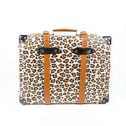 Charlotte Olympia Globe-Trotter Suitcase Leopard Print Trolley