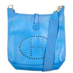 Hermes - Evelyne I Messenger Bag - Blue Leather H Logo Shoulder