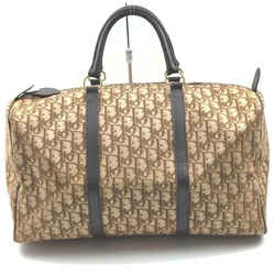 Christian Dior Brown Monogram Trotter Boston Duffle Bag  861990