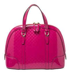 Gucci Fuchsia Microguccissima Patent Leather Nice Satchel