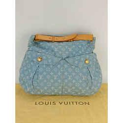 Louis Vuitton Daily GM Blue Denim Monogram Shoulder Bag Authentic M40492 A559