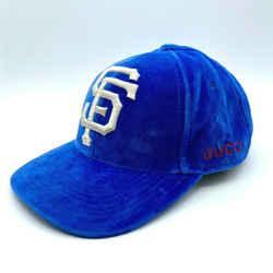 Gucci Unisex Blue Velvet San Francisco Sf Giants Baseball Hat 540374 4300