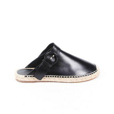 Celine Mules Black Leather Espadrille
