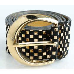 Dolce & Gabbana Checkered Leather Belt
