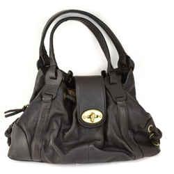 MULBERRY: Dark Brown, Leather & Logo Large Shoulder Bag (mn)