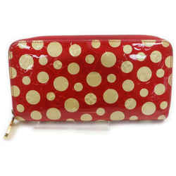 Louis Vuitton Red Kusama Infinity Dots Zippy Wallet Zip Around  862107