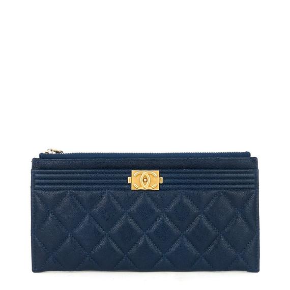 Boy O Case Caviar Leather Wallet