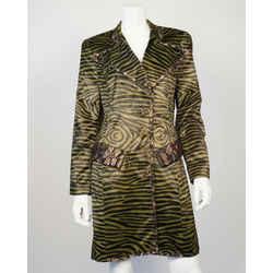 Christian Lacroix Faux Zebra Print Coat