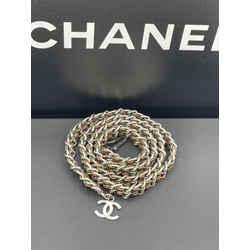 Chanel Chain Coco Cc Logo Leather Vintage Belt 0.5l X 33h
