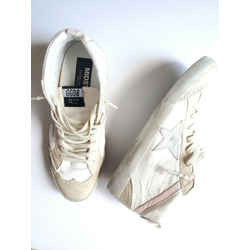 Authentic In stores now Golden Goose Midstar White Natural Pink Sneakers 41
