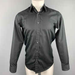 RALPH LAUREN Black Label Size XS Black Cotton Button Up Long Sleeve Shirt