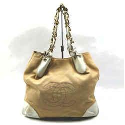 Chanel Bicolor Beige CC Logo Chain Tote 861012