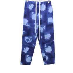 Marni Blue Print Cotton Pants Sz 38
