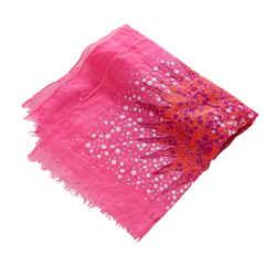 Purple Loewe Printed Silk Scarf