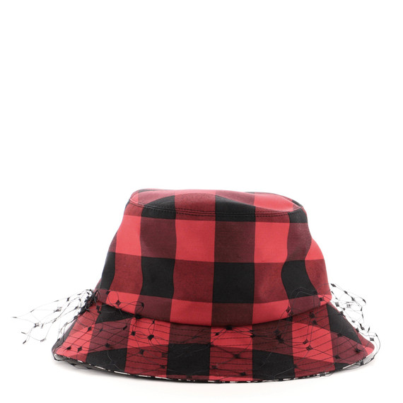 Teddy D Bucket Hat Check Canvas with Veil XXL