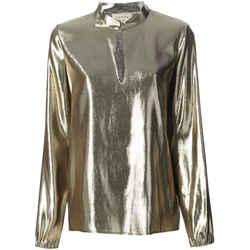 Lanvin Metallic Silk Blend Blouse Size: 8 (M)