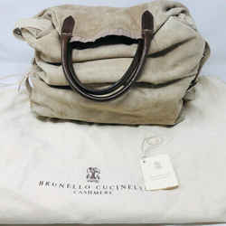 Brunello Cucinelli Taupe Suede Bag Purse  2292-65-81520