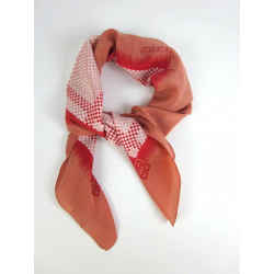 "Givenchy: Red, 100% Silk, Scarf Foulard 30"" X 30"""