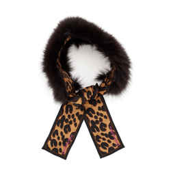 Stephen Sprouse Leopard Bandeau Silk and Fur