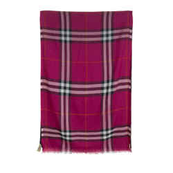 Burberry Wool And Silk Blend Scarf