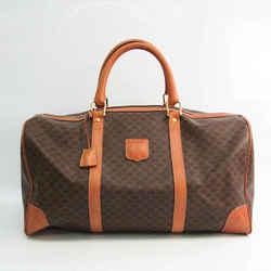 Celine Macadam Unisex Leather,PVC Boston Bag Brown,Dark Brown BF528142