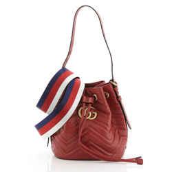 GG Marmont Bucket Bag Matelasse Leather Small