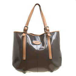 Tod's Black/Brown PVC and Leather Tote