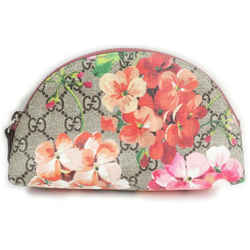 Gucci Beige Pink Floral Supreme GG Blooms Cosmetic Pouch Make Up Bag 862397