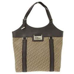 Auth Christian Dior Dior Street Chic Trotter Handbag Brown 15 Bo 0075 Leather Ba