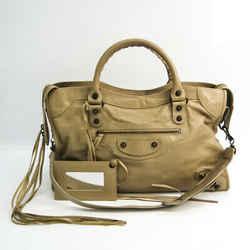 Balenciaga Classic 115748 Women's Leather Handbag,Shoulder Bag Beige BF532312