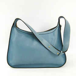 Delvaux Women's Leather Shoulder Bag Light Blue Bf341202
