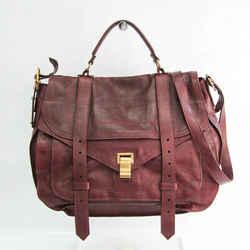 Proenza Schouler Large Women's Leather Handbag,Shoulder Bag Bordeaux BF528138