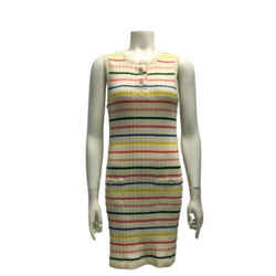 Chanel Multicolor Striped Knit Dress