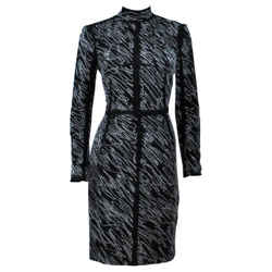 PROENZA SCHOULER Black and White Contrast Wool Dress Size 8