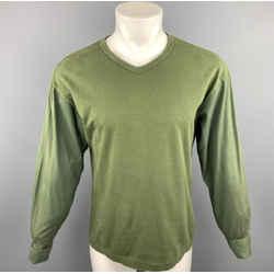 Comme Des Garcons Size M Olive Patchwork Jersey Pullover