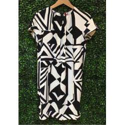 Max Mara Size 8 Black & White Dress