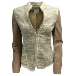 Akris Punto Tan & Beige Tweed Jacket