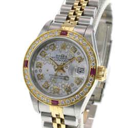 Rolex Lady Datejust Silver Diamond Dial Diamond Bezel 26mm Watch