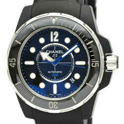 Polished CHANEL J12 Marine 42 Ceramic Rubber Automatic Mens Watch H2558 BF534545