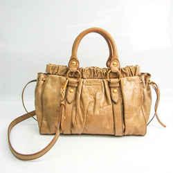 Miu Miu Women's Leather Handbag,Shoulder Bag Beige BF520755