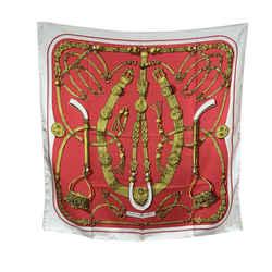Hermes Paris Vintage Red Silk Scarf Gaucho 1978 Caty Latham