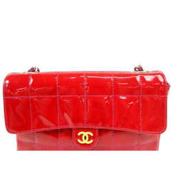 Red Quilted Patent Leather Rectangular Mini Flap Belt Bag 233993