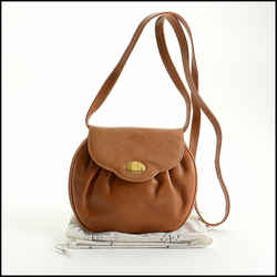 Rdc10916 Authentic Mark Cross Vintage Tan Leather Crossbody Bag