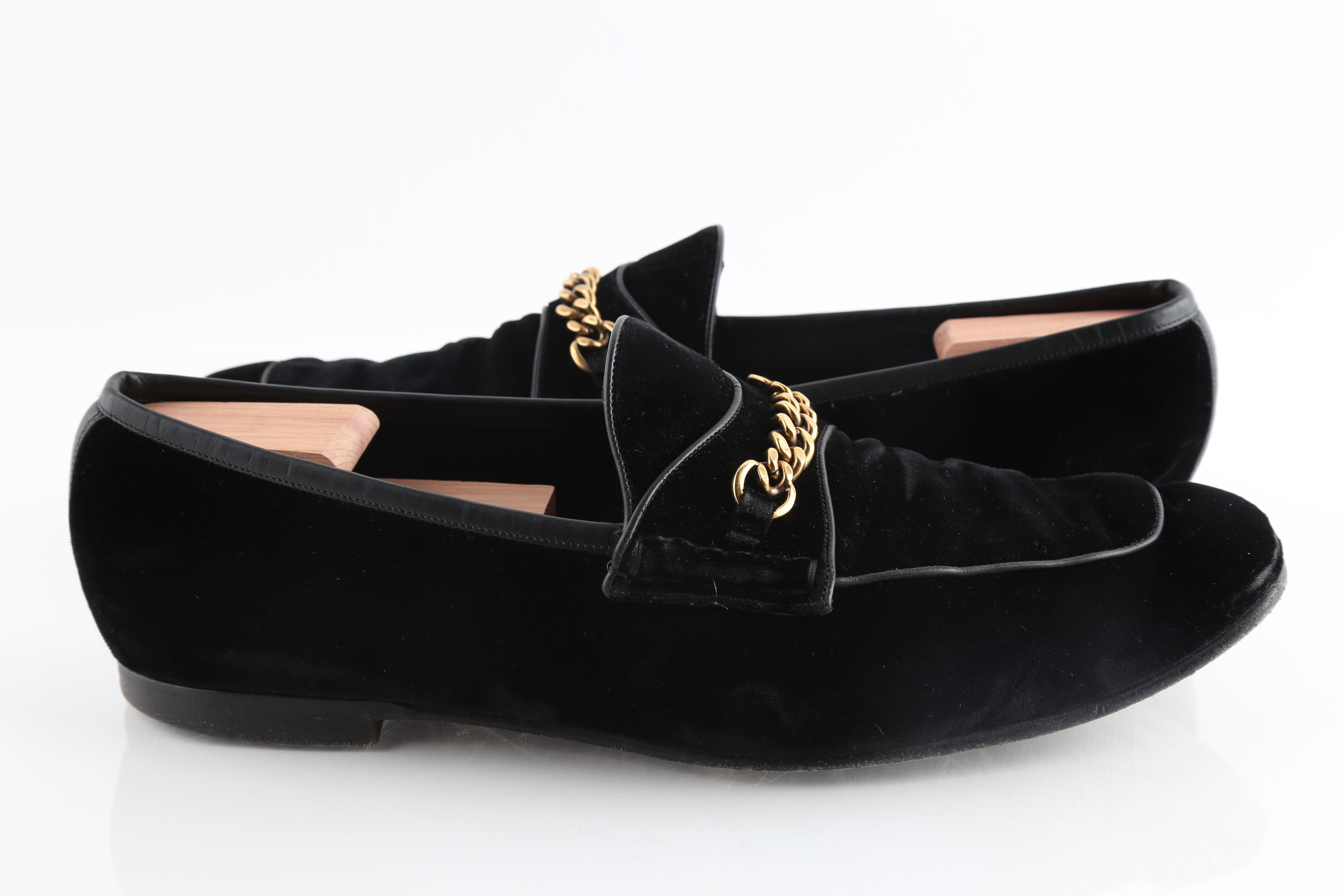 Tom Ford Velvet Leeds Chain Loafers