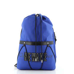 Newave Drawstring Backpack Printed Nylon with Applique