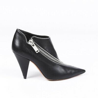 Celine Leather Pointed Zip Booties SZ 36