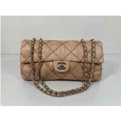CHANEL Ultra Stitch Python Flap  CC Turn Lock Chain Shoulder Bag