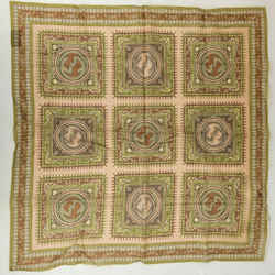 Gucci Men's Brown Cotton Handkerchief Scarf W/interlocking G Print 597302 9964 N